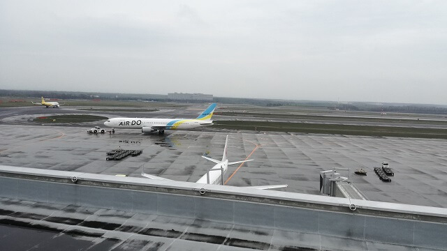 新千歳空港展望デッキからの眺め