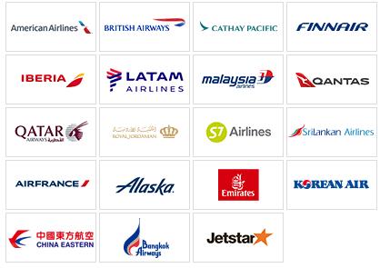 JAL提携特典航空会社一覧